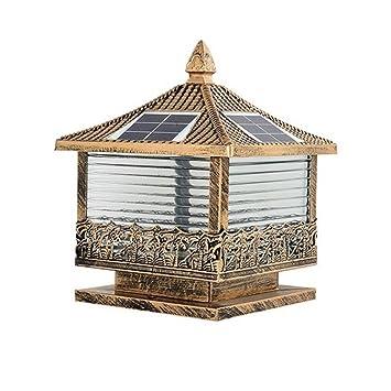 Wenhu Estatuilla Del Jardín Led Terraza Solar Y Decoración