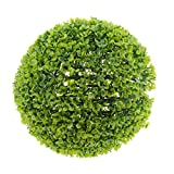 MonkeyJack Round Topiary Effect Bush Ball Garden Decor, Large, Natural Green/ Purple - Green 32cm