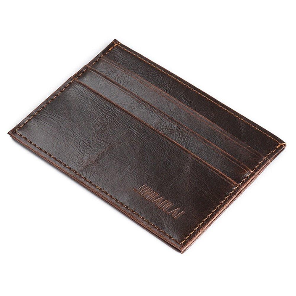 Slim Leather Wallet,Minimalist Credit Card Holder Front Pocket Wallets for Women&Men (#2)