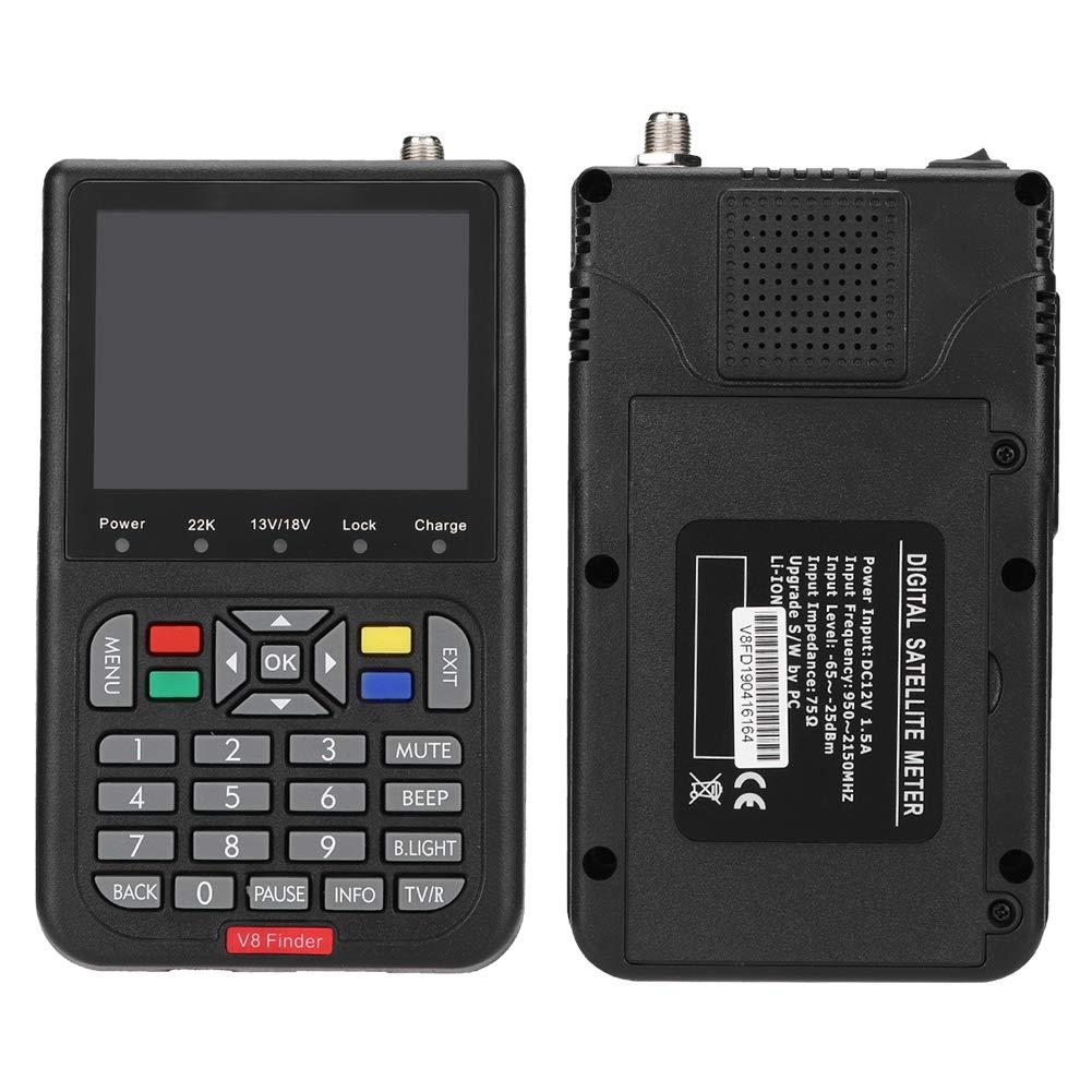 Lazmin Satellite Finder Satellite Signal Meter, Digital V8 Satellite Signal Finder HD 1080P DVB-S Signal Strength Meter Detector, 6000 Channels TV and Radio programmable (Black) (110-240V) by Lazmin (Image #9)