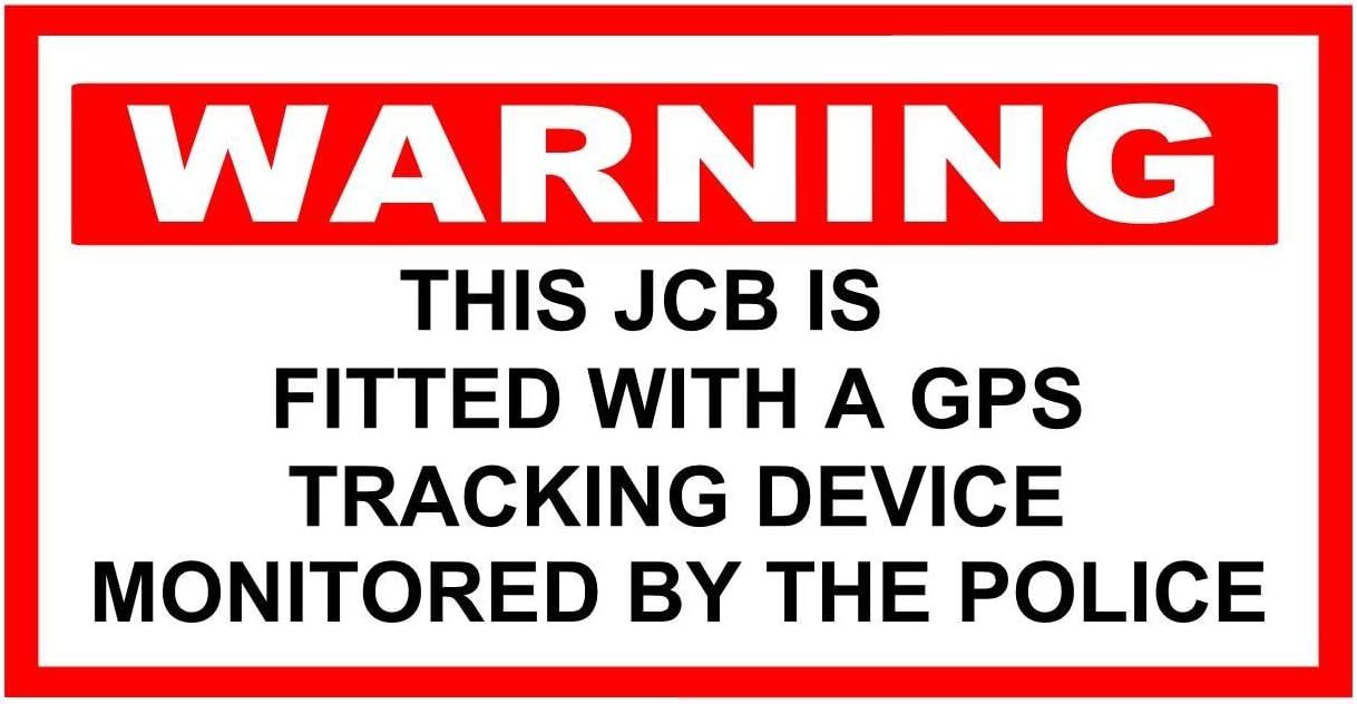 Alerta excavadora JCB Pegatina de GPS de seguimiento de seguimiento por Policía excelente Deterrant 150 mm x 100 mm: Amazon.es: Oficina y papelería