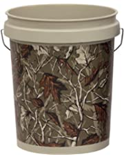 United Solutions PN0060 18.9-Liter Industrial Pail Bucket, 5 Gallon, Taupe with Camo Print