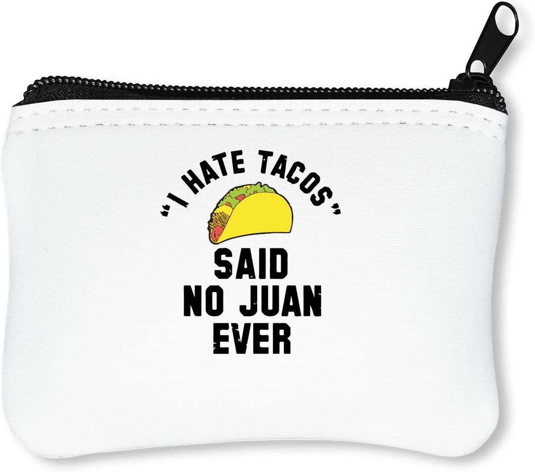 I Hate Tacos Said No Ever Billetera con Cremallera Monedero ...