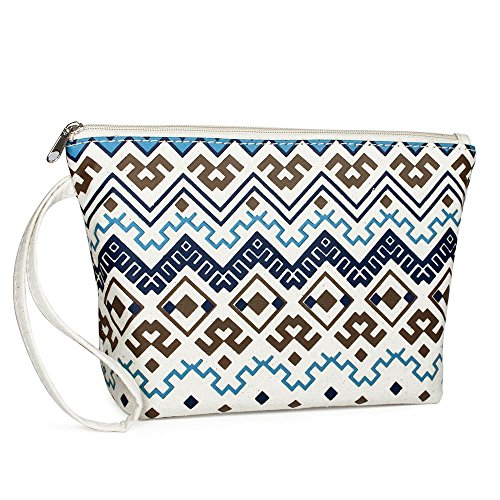 Keepast Makeup Bag Portable Cosmetic Storage Handbag Multicolor Chinese Embroidery Pattern Women Mini Tote