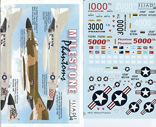 Iliad Decals 1:48 Milestone Phantoms F-4 Decal Set for sale  Delivered anywhere in USA