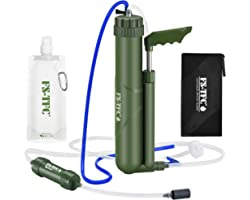 FS-TFC Portable Reverse Osmosis Water Filter 0.0001 Micron Super-high Precision Water Purification Survival Gear for Hiking,