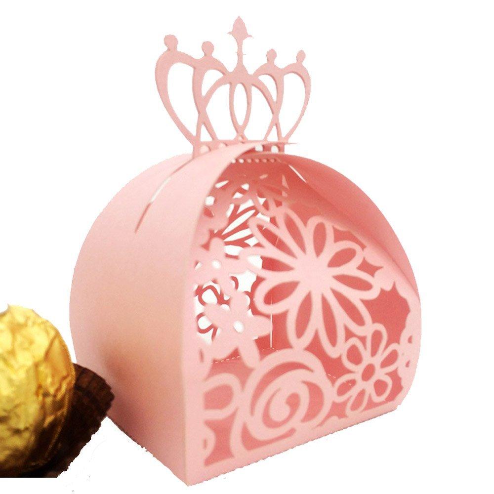 Amazon.com: WOMHOPE® 50 Pcs - Crown Lock Flower Style Hollow Laser ...