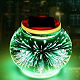 BLDUL Solar LED 3D Firework Table Light Glass Ball Color Changing Solar Powered Outdoor or Indoor Decoration (Fireworks)