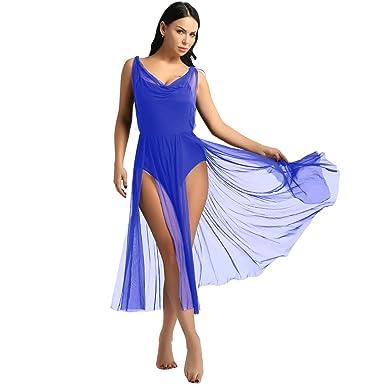 inlzdz Mujer Vestido de Ballet Mujer Maillot de Danza ...