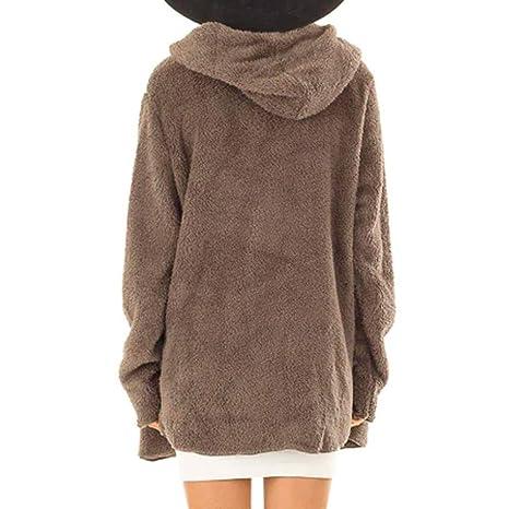 Luckycat Abrigos Mujer Casual Rebecas Invierno Ultra-Caliente con Capucha MujerAbrigo Mujer Invierno Ropa Botón de Punto Jersey Cardigan Abrigo Tops ...