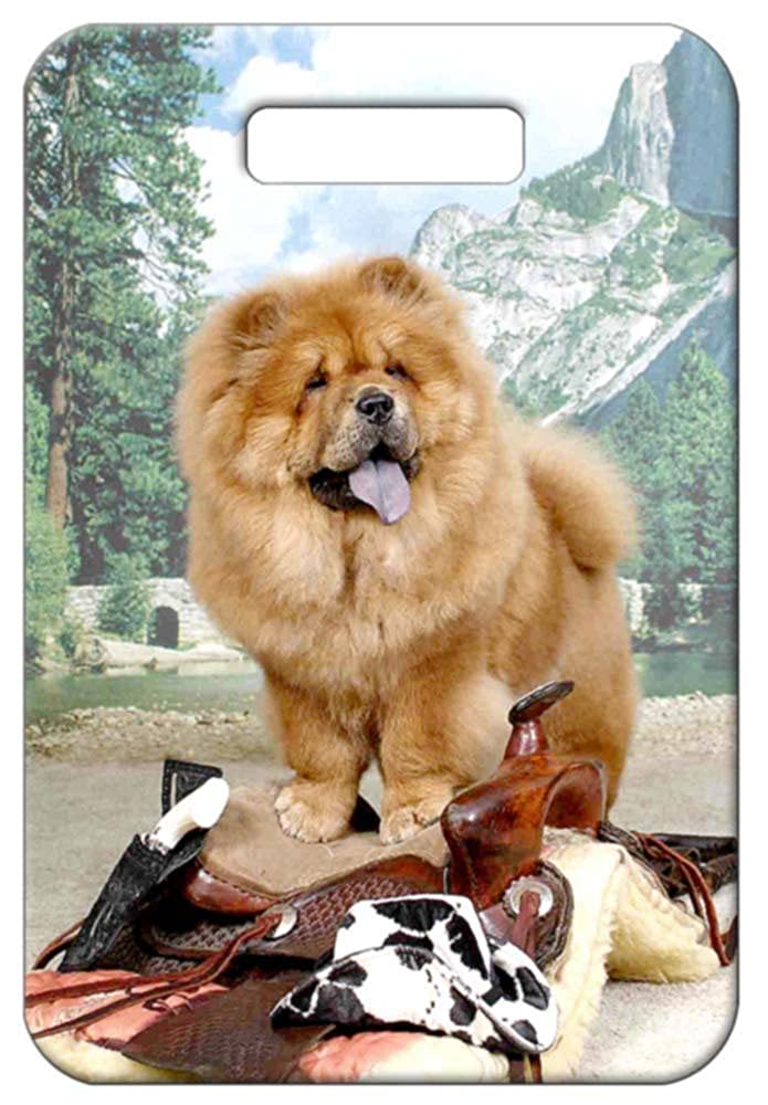 Canine Designs Set of 2 Chow Chow Luggage Tags