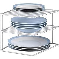 Metaltex 364202095 Silos hoekkast, 2 verdiepingen, 25 x 25 x 19 cm, wit