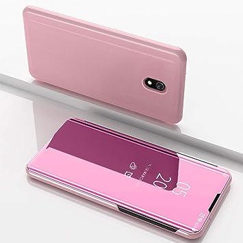 HUUH Funda para Xiaomi Redmi 8A,Caja del teléfono Espejo,Hecha PC+PU Material Compuesto,Soporte Plegable,Elegante y único Carcasa(Rosado): Amazon.es: Electrónica