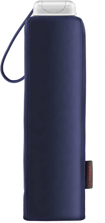 SAMSONITE ALU Drop S Azul 23 cm Indigo Blue 3 Section Manual Mini Flat Paraguas Plegable