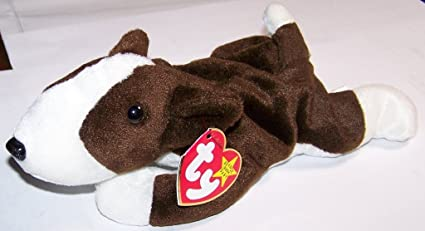 Amazon.com  Bruno the Bull Terrier Dog - MWMT Ty Beanie Babies  Toys ... c44ced9240c