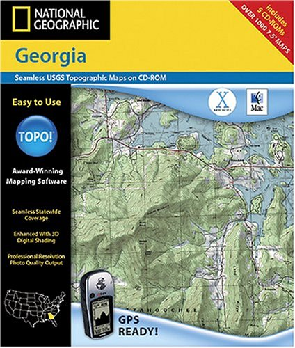 National Geographic TOPO! Map of Georgia (Mac)