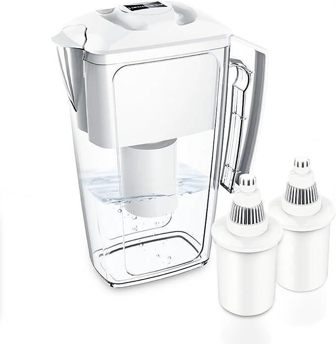 OXA Jarra de Filtro de Agua de Larga duración con 2 filtros de 60 ...