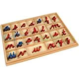 Montessori Cursive Moveable Alphabets with Box