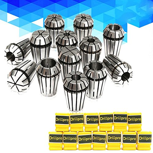 SODIAL 13pcs 1-13mm ER20 Spring Collet Set Torno de fresado y grabado de sujecion CNC