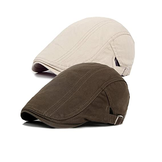 Decstore Pacco di 2 Uomo Cotone Cappuccio Berretti Edera Cappelli Guida Cappelli  Invernale Vintage Beret Hat  Amazon.it  Abbigliamento e5445494388a