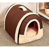 XMTUOTU Warm & Comfortable Foldable Non-Slip Pet Dog House Cozy Plush Bed 6 Styles 3 Size (L (60X45X45CM), Style 1)