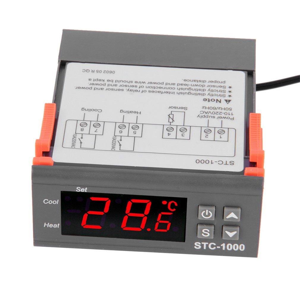 Black STC-1000 All-Purpose Temperature Controller Centigrade Digital Thermostat Switch Controller NTC 10K Sensor Temperature Instrument Diagnostic Tool