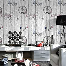 """3D Eiffel Style Wallpaper Deep Grey Living Room Background Wallcoverings House Decoration 20.8"""" x 393.7"""""""