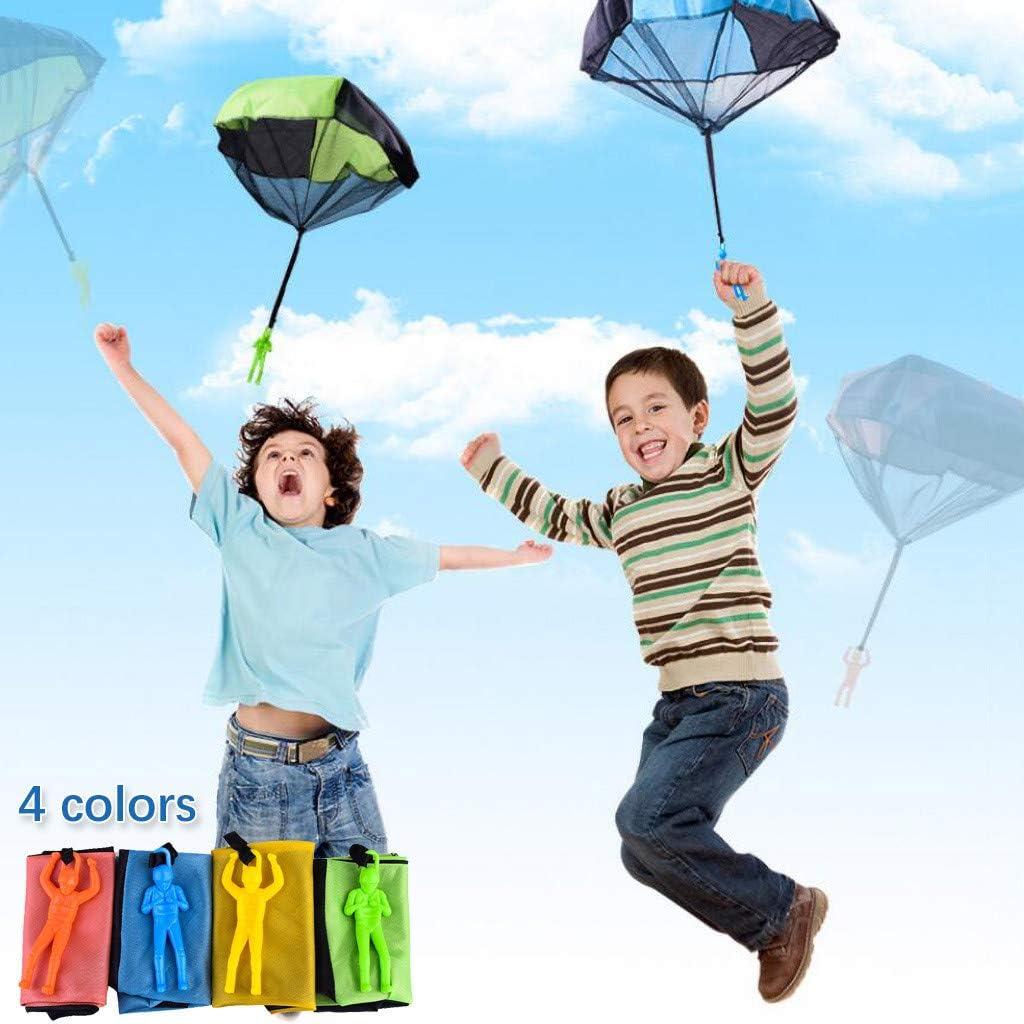 Parachutistes /à Balancer /à la Main Lancer Parachute Jouet pour Enfants Orange Rameng Parachutiste Jouet