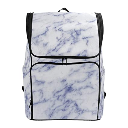 62275f8357 Image Unavailable. Image not available for. Color  School Backpack Marble  Pattern Texture College ...
