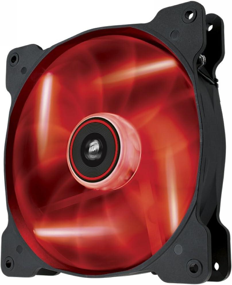 Corsair Air Series AF140 LED Quiet Edition High Airflow Fan Red