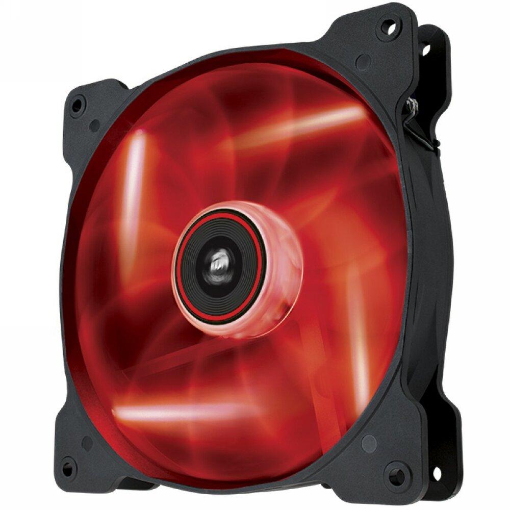 Corsair AF140 LED Quiet Edition Ventilador de PC 140 mm, Alto Flujo de Aire, Iluminaci/ón LED Blanco Paquete Soltero