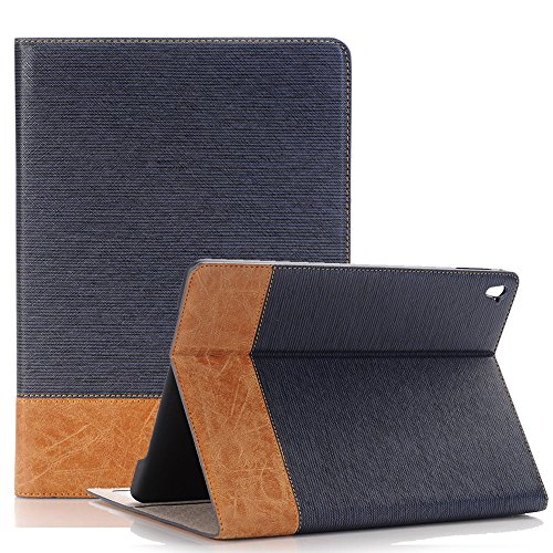 Price comparison product image iPad Air 2 Case Cover, Dream Wings Slim Book Style Stand with Auto Sleep / Wake Screen Protective Case for Apple iPad Air 2 9.7 inch Tablet (iPad Air 2,  Dark Blue)