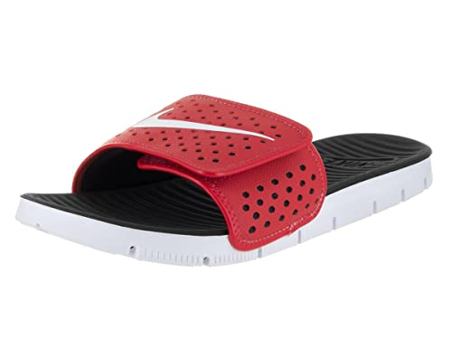 94e818c7ee55 Nike Men s Flex Motion Slide University Red White Black Sandal 11 Men US