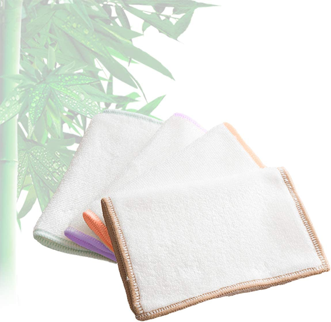 KMAKII 8 Pack 100% Bamboo Kitchen Dish Cloths Dish Rags & Kitchen Cleaning Cloths Odor Free,Washable, Absorbent, Sustainable, Durable 10.2x10.2 inches