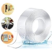 CYWVYNYT Wasbaar, zonder sporen na na na dubbelzijdige tape, transparant, verwijderbare herbruikbare plakstrip, extra…