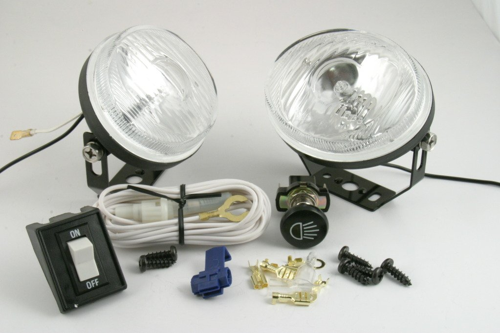 61AGKIhQLZL._SL1023_ amazon com golf cart headlights halogen kit atv quad club car ez golf cart headlight wiring at et-consult.org