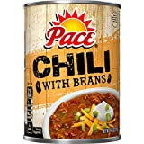 chili canned - Pace Chili, with Beans, 14.5 Ounce (Packaging May Vary)