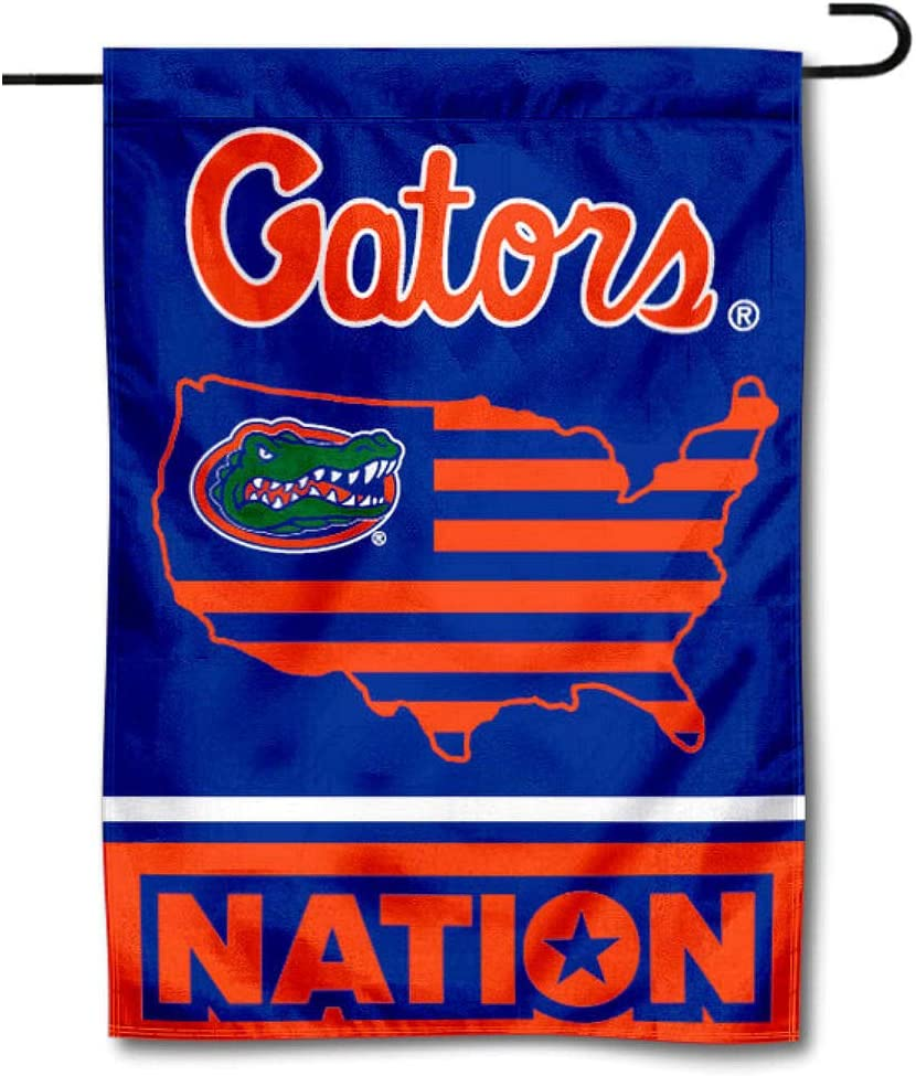 College Flags & Banners Co. Florida Gators Garden Flag with USA Stars and Stripes