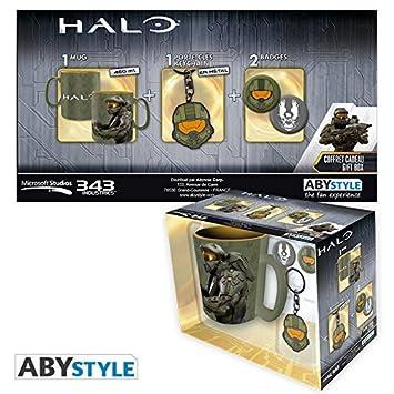 Set Regalo Master Chief, Halo, Taza, llavero y pins.: Amazon ...