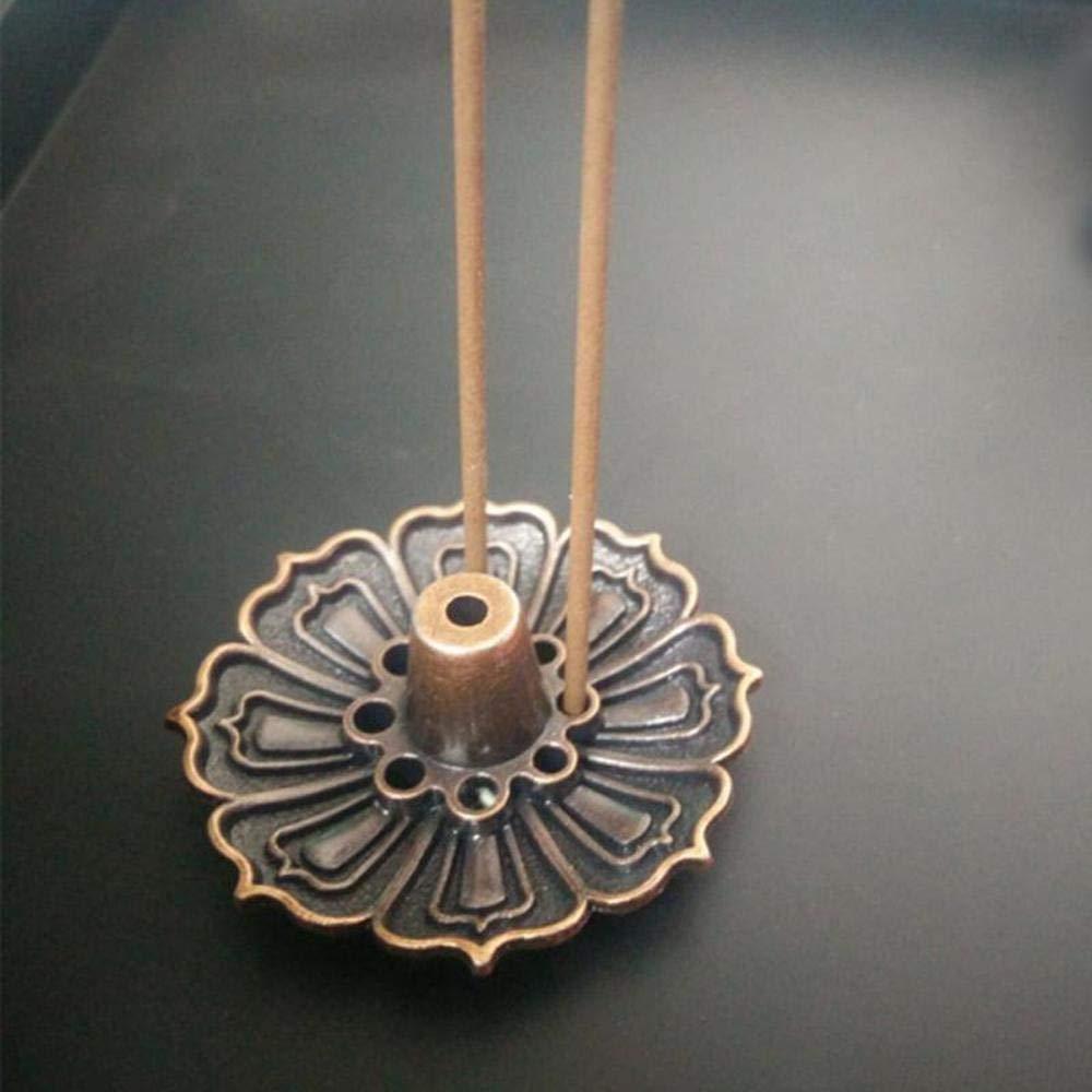 OSAYES 9 Hoyos Lotus Quemador de Incienso Titular Flor Estatua incensario Placa para Sticks /& Cone casa Decoracion 1pcs