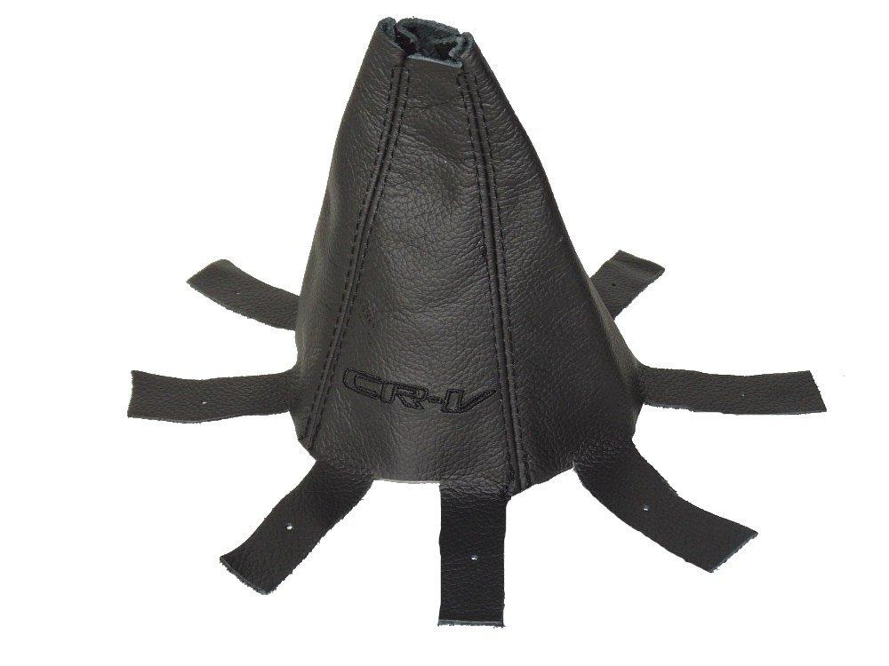Schaltsack schwarz Italienisches Leder, schwarzen 'CR-V Edition Stickerei schwarzen CR-V Edition Stickerei The Tuning-Shop Ltd