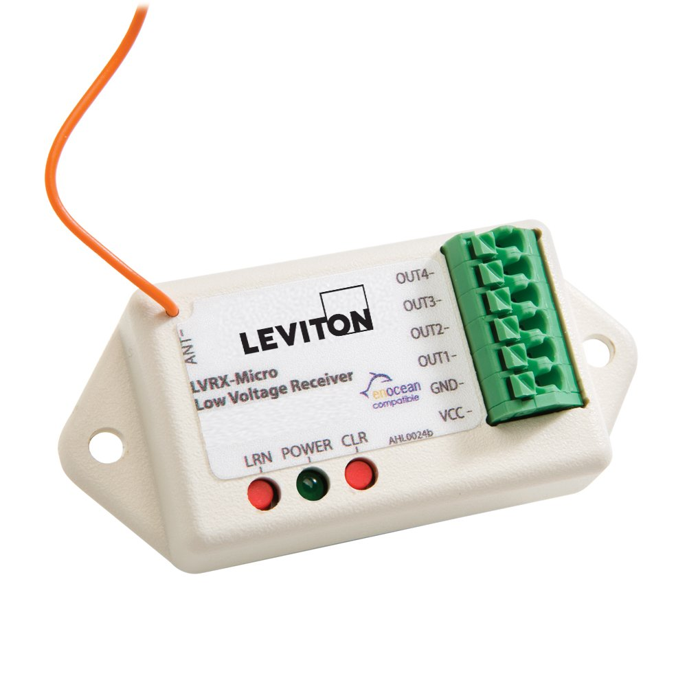 Light Almond 8-30VDC Leviton WS0RC-S00 2-Channel Shade Controller