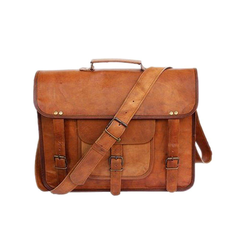 Messenger Bag 13'' Top Handle Briefcase Office Bag Genuine Leather Laptop Bag Vintage Handmade Bag. (Style 2)