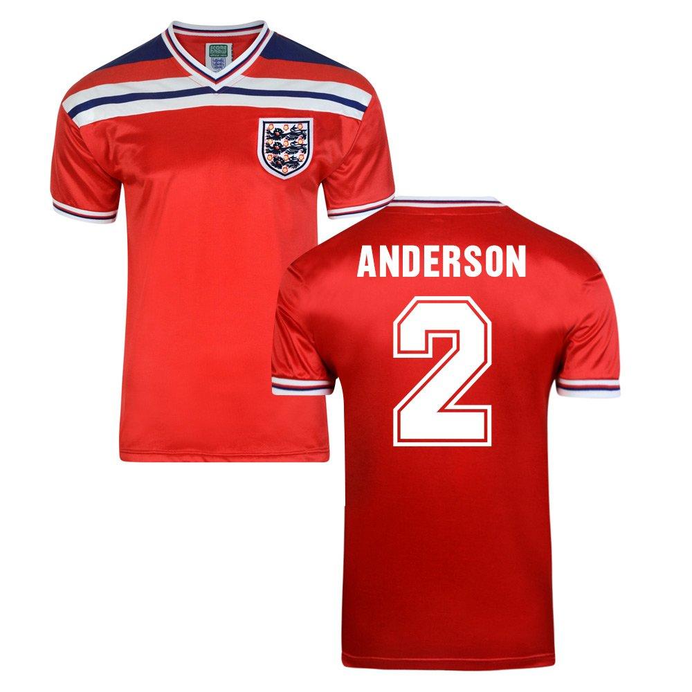 Score Draw England World Cup 1982 Away Football Soccer T-Shirt Trikot (Viv Anderson 2)