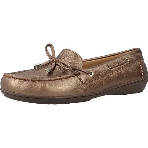 Mocasines para Mujer, Color Metálico, Marca GEOX, Modelo Mocasines para Mujer GEOX D Jamilah 2FIT B Metálico: Amazon.es: Zapatos y complementos