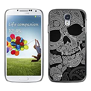LOVE FOR Samsung Galaxy S4 Skull Pattern Ink Death Tattoo Rock Metal Personalized Design Custom DIY Case Cover