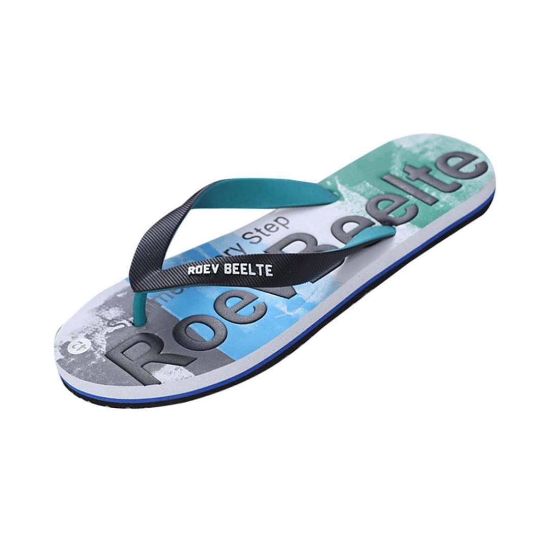 CLEARANCE SALE! MEIbax Männer Sommer Mischfarben Schuhe Sandalen Männlichen Slipper Indoor oder Outdoor Flip Flops (39, Schwarz)
