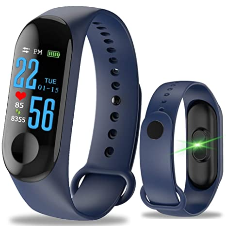 GBVFCDRT Hombres Mujeres Relojes Inteligentes Deporte Fitness Reloj Pantalla en Color Monitor de presión Arterial Impermeable