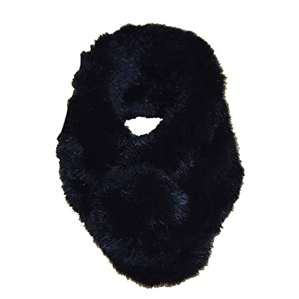 OULII Las mujeres de pañuelo de invierno caliente conejo piel cuello calentador bufanda pañuelo para el