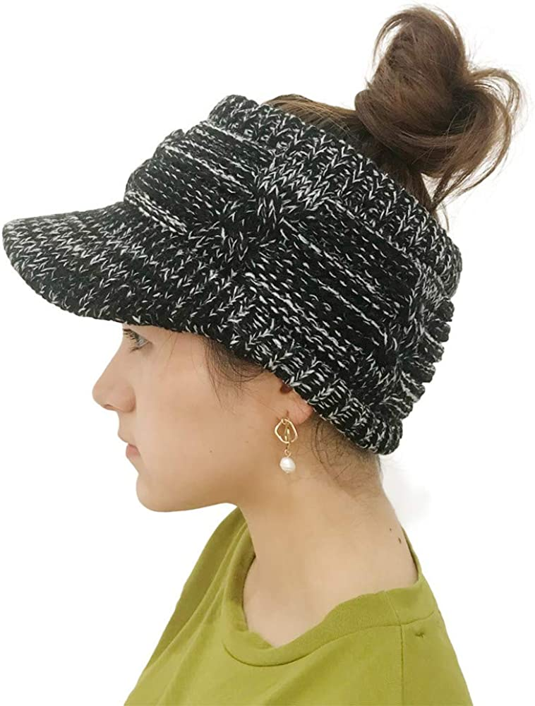 moonuy sombrero de lana de punto para mujeres Hollow Out sombreros ...